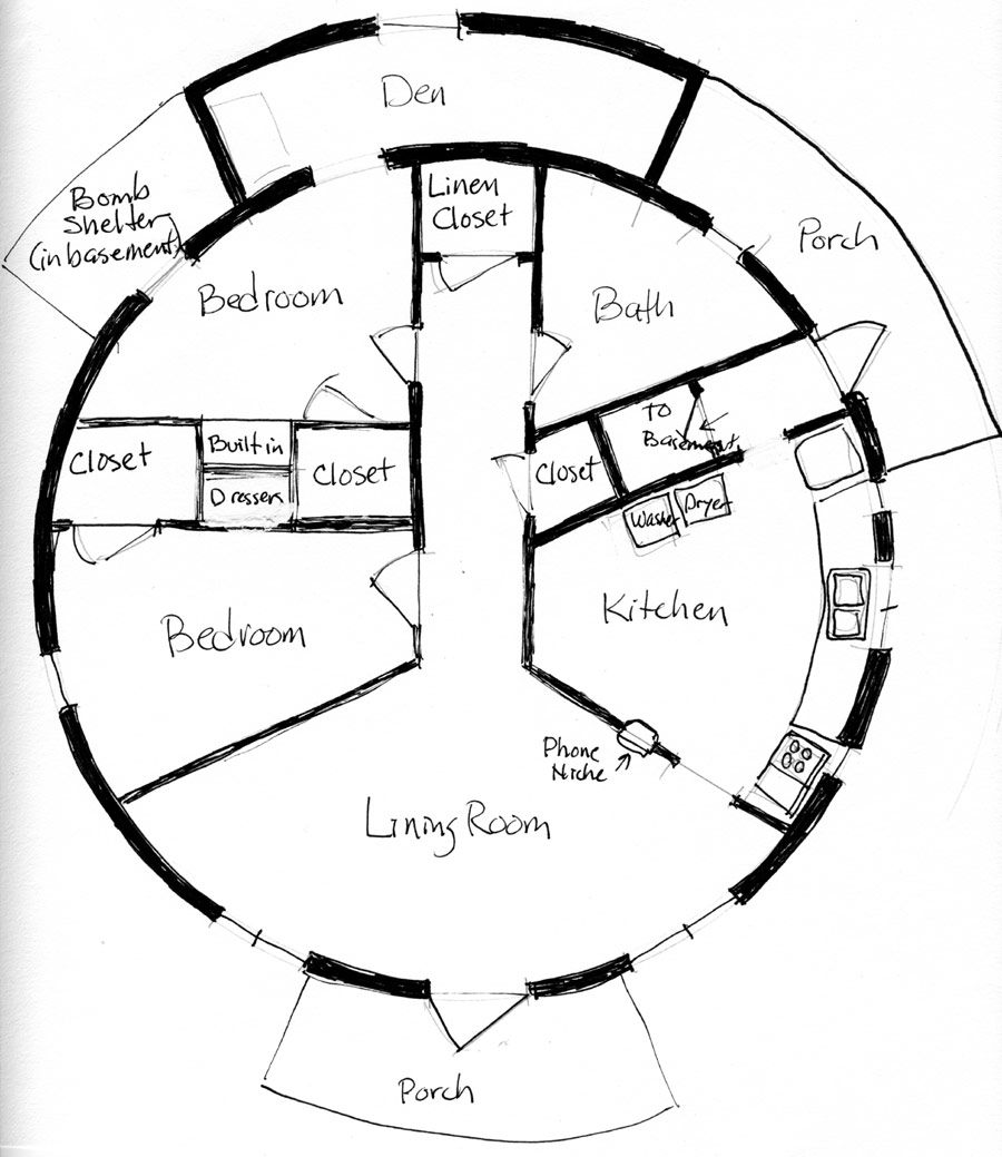 Circular home plans floor plans for Round home plans
